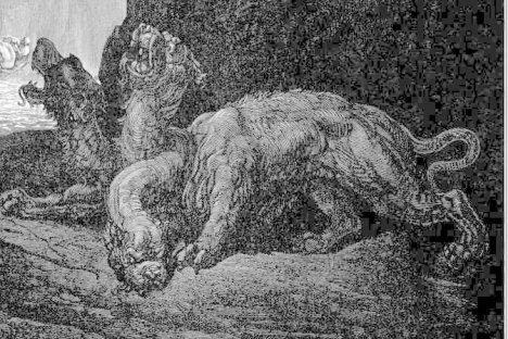 Paul Gustave Doré: Cerbero dantesco