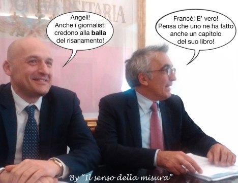 Siena: il prorettore Francesco Frati e il rettore Angelo Riccaboni